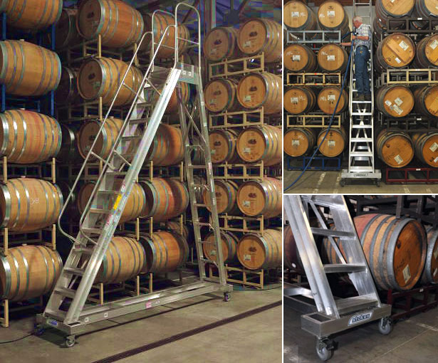 Aluminum Winery Ladders Stokes Ladders