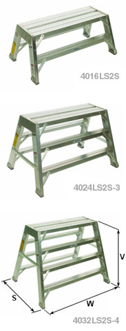 Heavy Duty Aluminum Long Non-Folding Stands